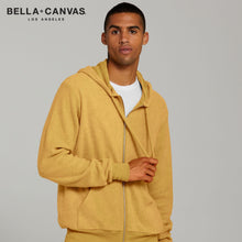 Load image into Gallery viewer, Bella & Cavas Unisex Suede Zip Jacket Hoody BE131 Mustard-Custom Teamwear