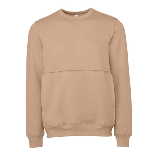 Bella & Canvas Unisex Raw Seam Crew Sweater BE133 Oatmeal
