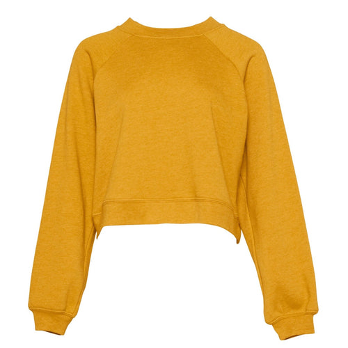 Bella & Canvas Raglan Sleeve Pullover Sweater BE134 Mustard