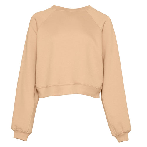 Bella & Canvas Raglan Sleeve Pullover Sweater BE134 Sand Dune