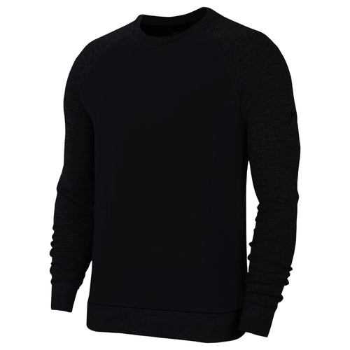 Nike Dri Fit Player Long Sleeve Golf Crew NK319 Black-Custom Teamwear