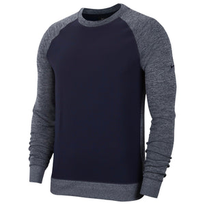 Nike Dri Fit Player Long Sleeve Golf Crew NK319 Grey-Custom Teamwear