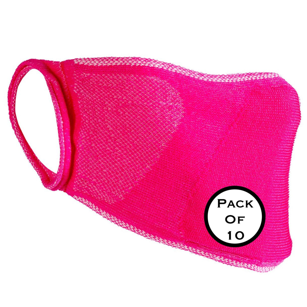 Result Organic Natural Yarn Anti Bac Face Mask (Pack of 10) Pink-Custom Teamwear