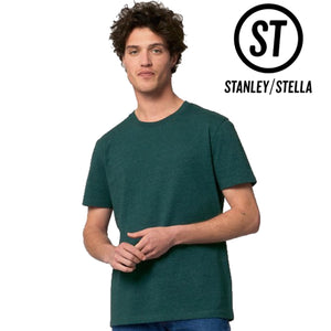 Stanley Stella Organic Cotton Unisex Iconic T-Shirt SX001 Mid Heather Blue-Custom Teamwear
