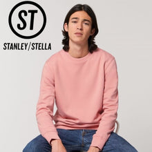 Load image into Gallery viewer, Stanley Stella Organic Iconic Unisex Crew Neck Sweater SX003 Heather Grey