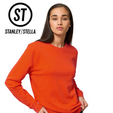 Load image into Gallery viewer, Stanley Stella Organic Iconic Unisex Crew Neck Sweater SX003 Black