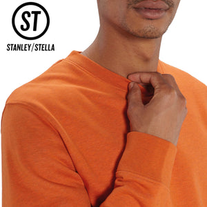Stanley Stella Organic Iconic Unisex Crew Neck Sweater SX003 Heather Grey