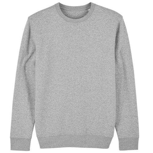 Stanley Stella Organic Iconic Unisex Crew Neck Sweater SX003 Heather Grey-Custom Teamwear