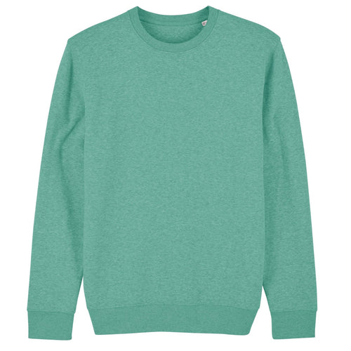 Stanley Stella Organic Iconic Unisex Crew Neck Sweater SX003 Heather Green
