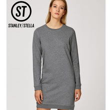 Load image into Gallery viewer, Stanley Stella Kicks Crew Neck Dress Sweater SX042 Black