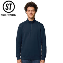 Load image into Gallery viewer, Stanley Stella Quarter Zip Trucker Sweater SX070 Black