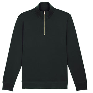 Stanley Stella Quarter Zip Trucker Sweater SX070 Black