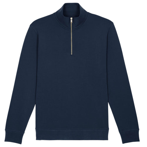 Stanley Stella Quarter Zip Trucker Sweater SX070 Navy-Custom Teamwear