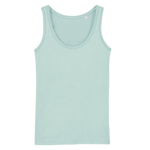 Stanley Stella Organic Ladies Iconic Vest Top SX013 Caribbean Blue-Custom Teamwear