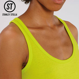 Stanley Stella Organic Ladies Iconic Vest Top SX013 Dark Heather Blue-Custom Teamwear