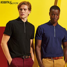 Load image into Gallery viewer, Asquith & Fox Zip Polo Shirt AQ013 Black-Custom Teamwear