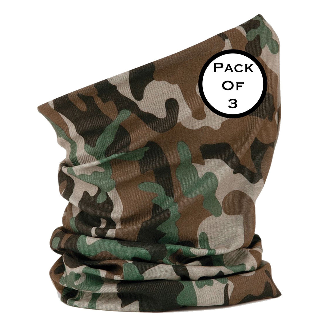 Beechfield Snood Morf Original Buff (3 Pack) BC900 Camo-Custom Teamwear