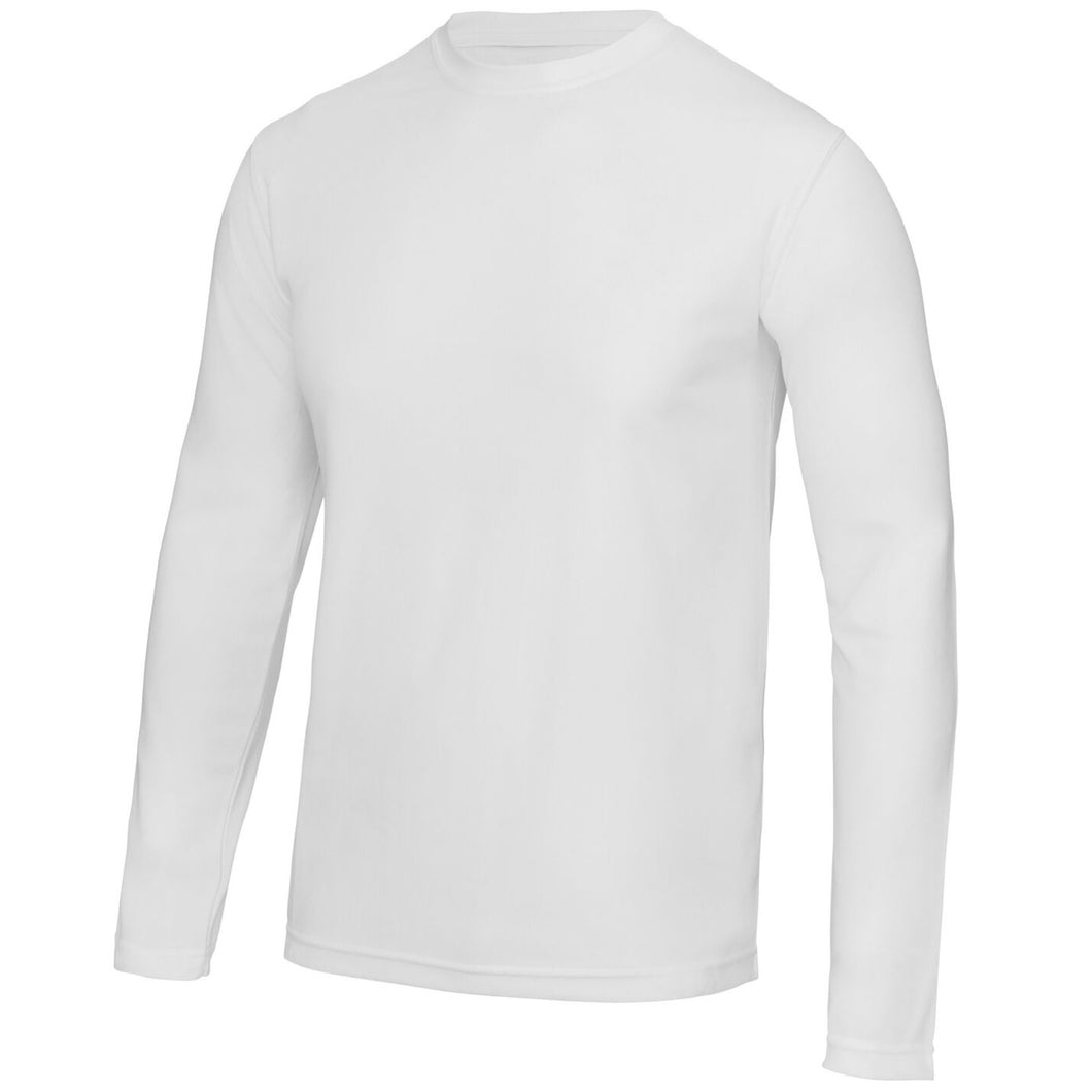 AWDis Just Cool Long Sleeve T-Shirt JC002 White-Custom Teamwear
