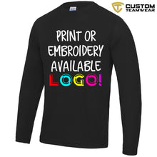 Load image into Gallery viewer, AWDis Just Cool Long Sleeve T-Shirt JC002 Black-Custom Teamwear