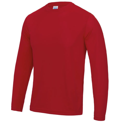 AWDis Just Cool Long Sleeve T-Shirt JC002 Red-Custom Teamwear