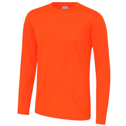 AWDis Just Cool Long Sleeve T-Shirt JC002 Electric Orange-Custom Teamwear