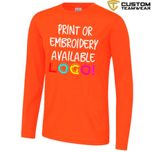 Load image into Gallery viewer, AWDis Just Cool Long Sleeve T-Shirt JC002 Electric Orange-Custom Teamwear