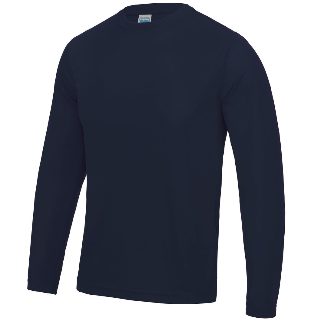AWDis Just Cool Long Sleeve T-Shirt JC002 French Navy-Custom Teamwear