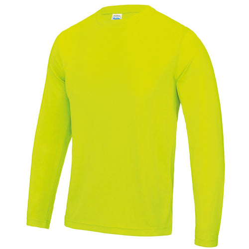 AWDis Just Cool Long Sleeve T-Shirt JC002 Electric Yellow-Custom Teamwear