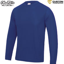 Load image into Gallery viewer, AWDis Just Cool Long Sleeve T-Shirt JC002 Royal Blue-Custom Teamwear