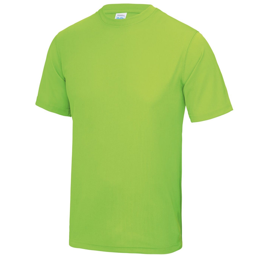 AWDis Just Cool 100% Polyester T-Shirt JC001 Electric Green-Custom Teamwear