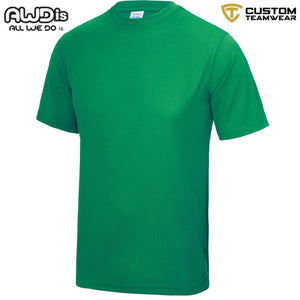 AWDis Just Cool 100% Polyester T-Shirt JC001 Kelly Green-Custom Teamwear