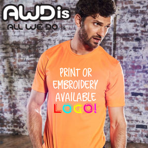 AWDis Just Cool 100% Polyester T-Shirt JC001 Red Hot Chilli-Custom Teamwear