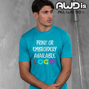 AWDis Just Cool 100% Polyester T-Shirt JC001 Black-Custom Teamwear