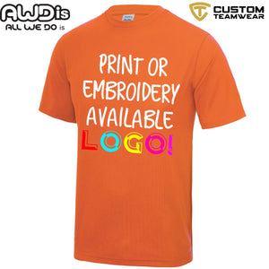 AWDis Just Cool 100% Polyester T-Shirt JC001 Electric Orange-Custom Teamwear