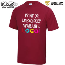 Load image into Gallery viewer, AWDis Just Cool 100% Polyester T-Shirt JC001 Red Hot Chilli-Custom Teamwear