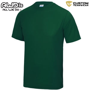 AWDis Just Cool 100% Polyester T-Shirt JC001 Bottle Green-Custom Teamwear