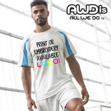 Load image into Gallery viewer, AWDis Just Cool Contrast Performance T-Shirt JC003 Sapphire Blue/ Charcoal-Custom Teamwear