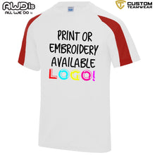 Load image into Gallery viewer, AWDis Just Cool Contrast Performance T-Shirt JC003 White/ Red-Custom Teamwear