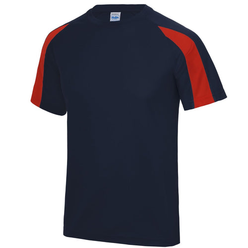 AWDis Just Cool Contrast Performance T-Shirt JC003 Navy/ Red-Custom Teamwear