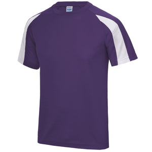 AWDis Just Cool Contrast Performance T-Shirt JC003 Purple/ White-Custom Teamwear