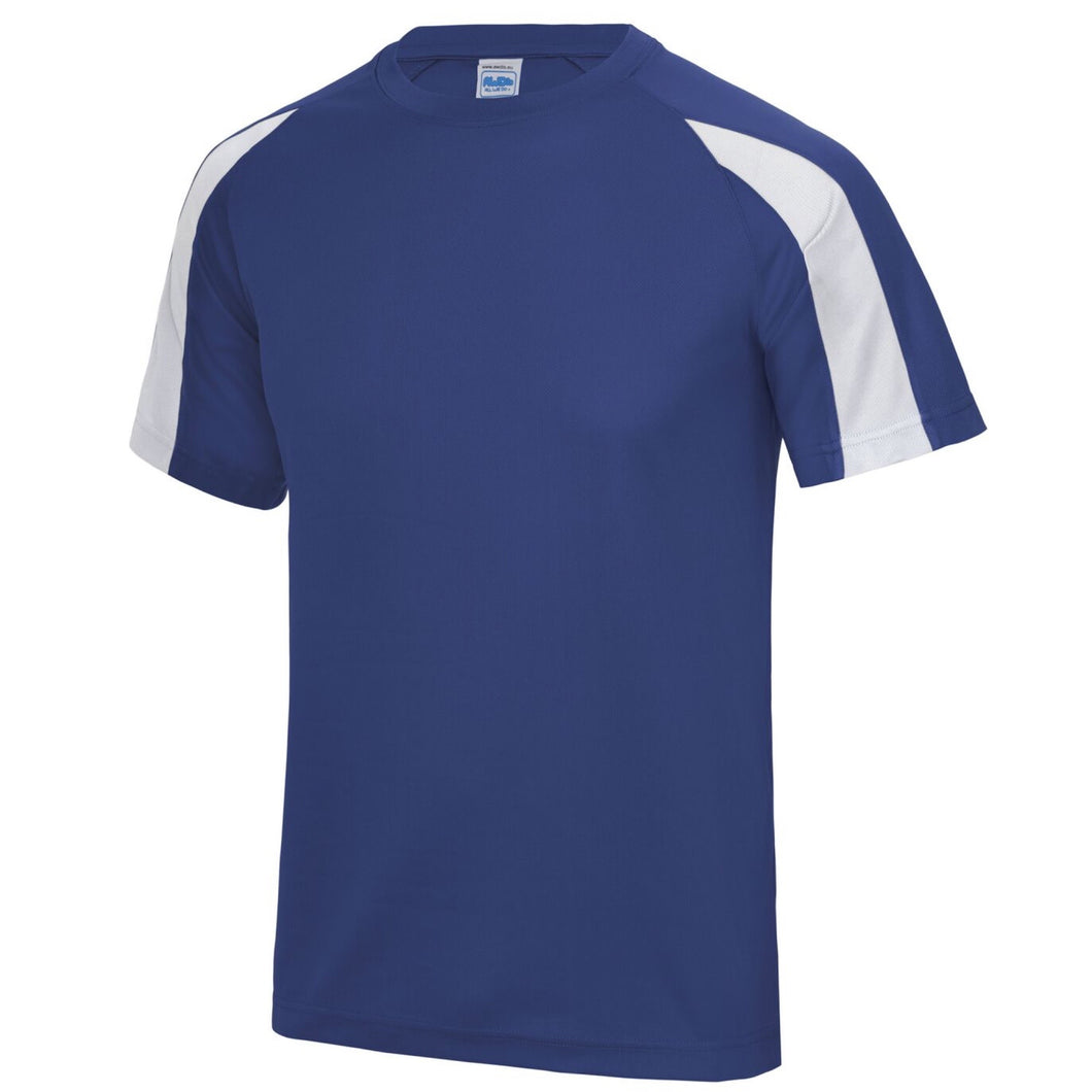 AWDis Just Cool Contrast Performance T-Shirt JC003 Royal/ White-Custom Teamwear