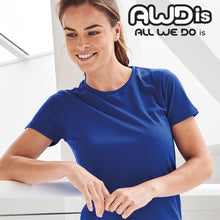 Load image into Gallery viewer, AWDis Just Cool Girlie Technical T-Shirt JC005 Relfex Blue-Custom Teamwear