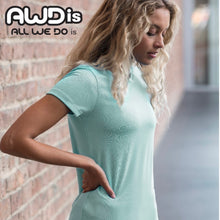 Load image into Gallery viewer, AWDis Just Cool Girlie Technical T-Shirt JC005 Black-Custom Teamwear