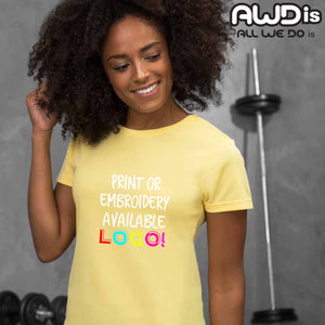 AWDis Just Cool Girlie Technical T-Shirt JC005 Sun Yellow-Custom Teamwear
