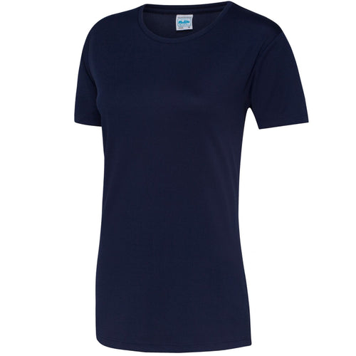 AWDis Just Cool Girlie Technical T-Shirt JC005 Oxford Navy-Custom Teamwear