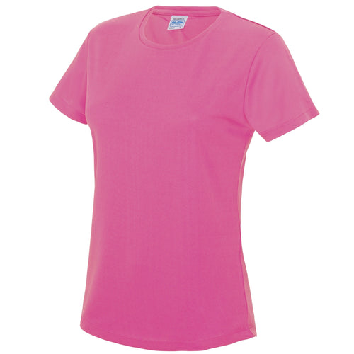 AWDis Just Cool Girlie Technical T-Shirt JC005 Electric Pink-Custom Teamwear