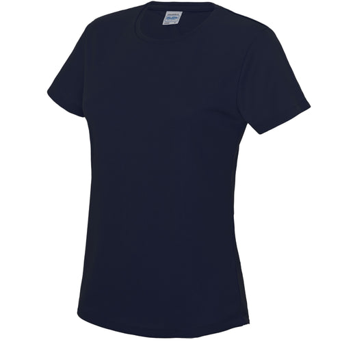 AWDis Just Cool Girlie Technical T-Shirt JC005 French Navy-Custom Teamwear