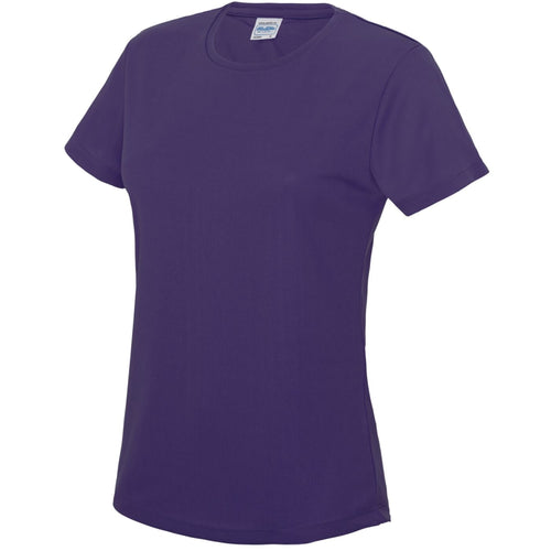 AWDis Just Cool Girlie Technical T-Shirt JC005 Purple-Custom Teamwear