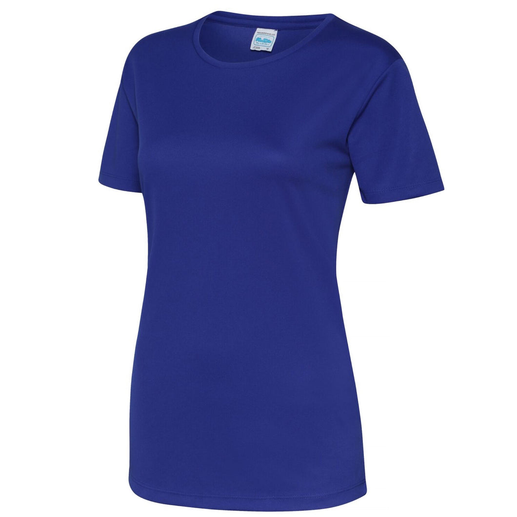 AWDis Just Cool Girlie Technical T-Shirt JC005 Relfex Blue-Custom Teamwear