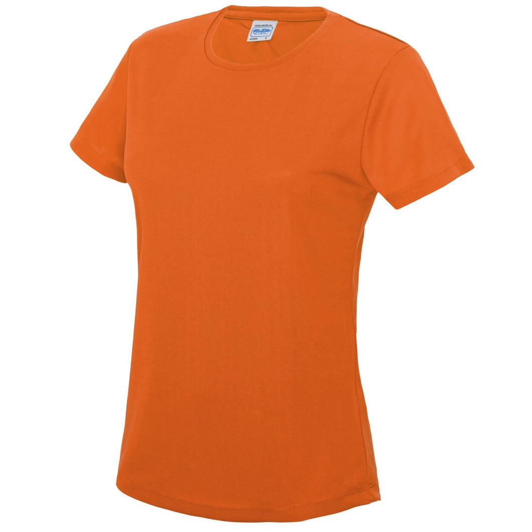 AWDis Just Cool Girlie Technical T-Shirt JC005 Electric Orange-Custom Teamwear